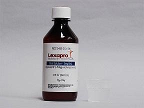 Lexapro liquid bottle