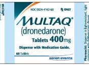 Multaq Pill Bottle Label